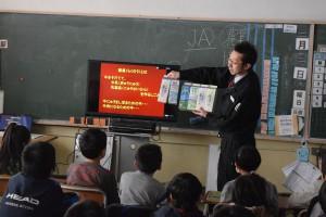 豊富小学校にて「酪農授業」
