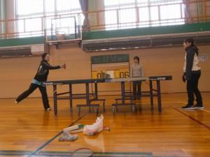 第1ラウンド「卓球」