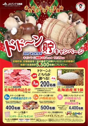 2017年 全道統一 冬のドドーン貯(ちょ)キャンペーン